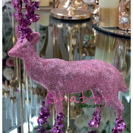 Cerb roz cu mov decoratiune