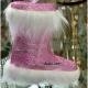 Decoratiuni brad Ghetute pufoase medii roz