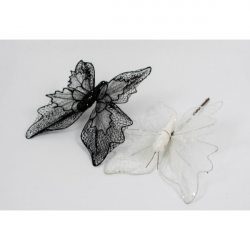 Decoratiune Fluture Textil 3D 10/Set