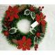 Coronita Brad Artificial Cu Floarea Craciunului Si Conuri