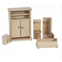 Mobilier lemn natur-baie