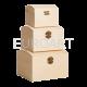Cutii lemn natur 3/set cufar
