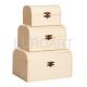 Cutii de lemn natur 3/set cufar