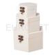 Cutii lemn 3/set hexagonala
