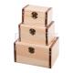 Cutii lemn 3/set dreptunghiulare pusculita