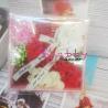 Cadou Aranjament din Flori din Sapun Rosu-Roz-Alb