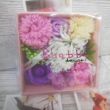 Cadou Aranjament din Flori din Sapun Mov
