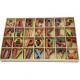 Literele alfabetului din lemn colorat
