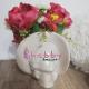 Aranjament Floral in Vas Venus Femeie cu Palarie - Flori Artificiale