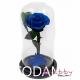 Trandafir criogenat albastru in cupola