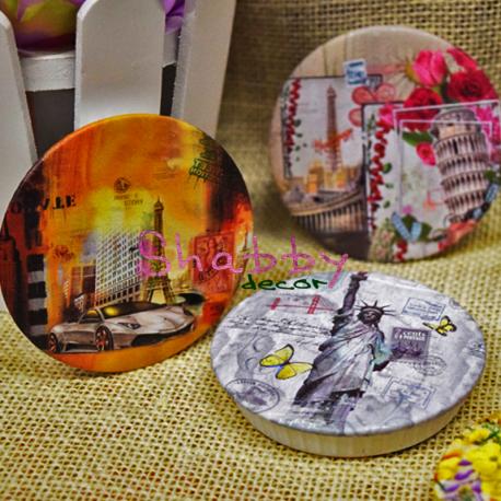 Desfacator de sticla magnetic cu peisaj