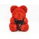 Ursulet din trandafiri rosii din spuma in cutie cadou