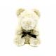 Ursulet din trandafiri crem 35 cm in cutie cadou