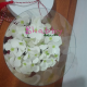 Aranjament din hortensii albe de sapun