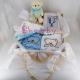 Cadou pentru nou nascut baietel in cufar natur 8 piese
