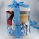 Set cadou Bebe Bun Venit in cutie alba transparenta