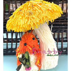 Ciuperca colorata decorativa