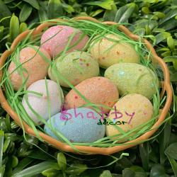 Cos de Paste cu oua colorate