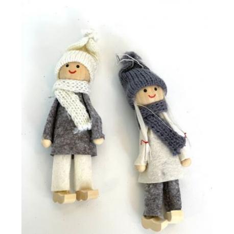 Decoratiune brad papusi tricotate