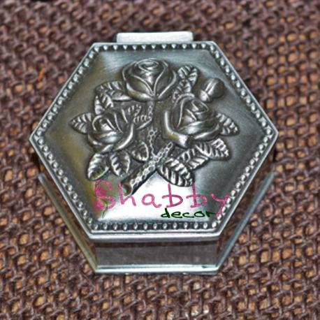Caseta Bijuterii Cadou cu trandafiri antimoniu