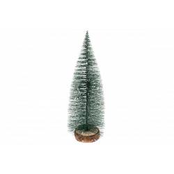 Bradut Plastic cu suport lemn 25 cm - Decor Craciun