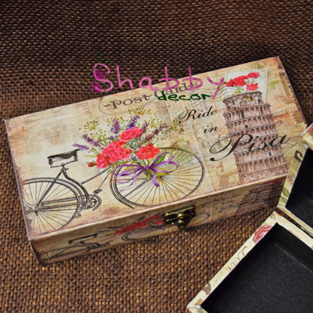 "Cutie decor Shabby Chic Bike ""Italy Love"""