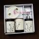 Set ceramic Baie cu model elegant floral alb-nergu
