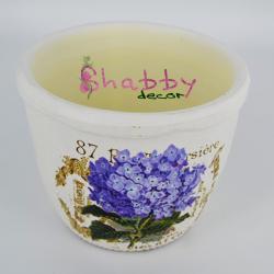 Suport din ceramica vintage cu model floral