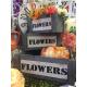 """Set Suport lemn vintage """"Flower"""" and """"Bike"""""""