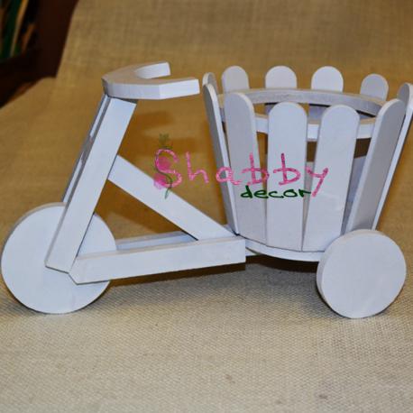 Decoratiune Bicicleta din lemn