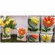 Suport ceramica cu model floral colorat
