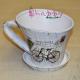 Ghiveci cana din ceramica cu bicicleta