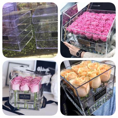 Cutii din acryl pentru flori