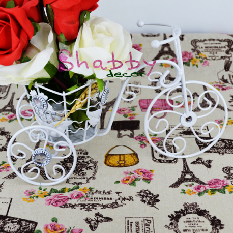Bicicleta metal Decor cu strasuri