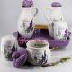 Set Oliviera, Zahar si Recipient Condimente Ceramica cu Lavanda