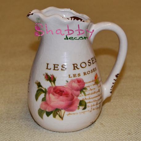 Carafa ceramica cu Trandafiri