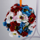 Glob de brad cu Flori elegante