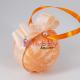 Glob de brad cu Dantela portocalie si perle