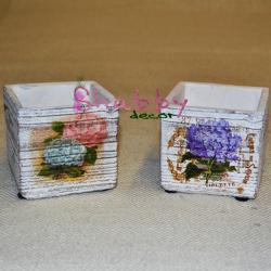 Cub ceramica cu flori