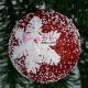 Set Globuri de Brad rosii elegante cu Dantela steluta